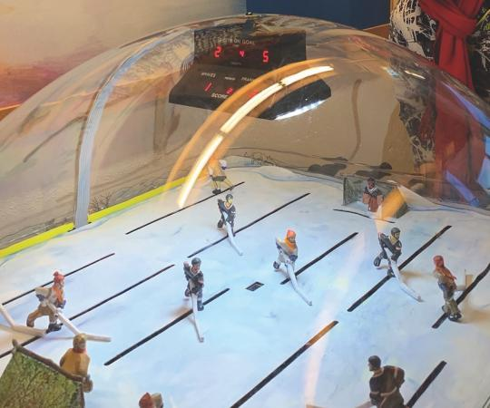 The Prince of Wales Northern Heritage Centre's table hockey game tells one origin story.