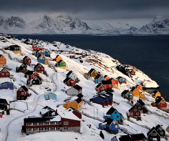 The view from Sisimiut, Greenland. Photo courtesy Greenland Travel