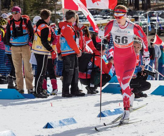 Dahria Beatty is one of three Yukoners on the Olympic cross-country ski team who raced at the AWGs. Photo courtesy of Pam Doyle.