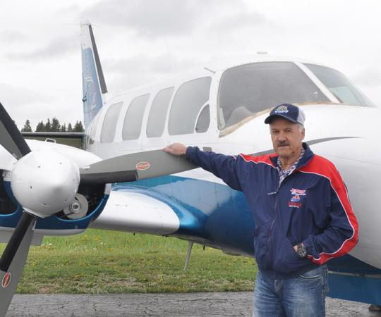 Simpson Air's Ted Grant is the Deh Cho's biggest booster. Photo by Samia Madwar