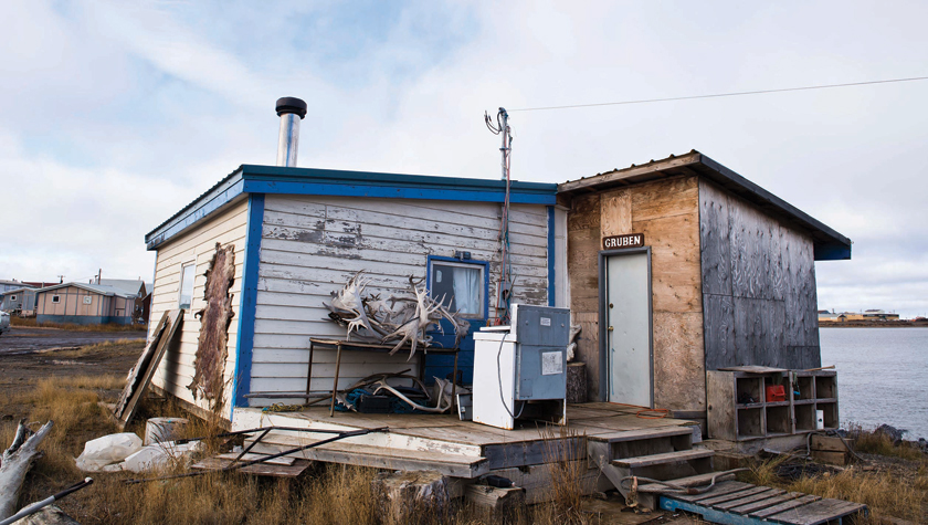 The home of Eddie Gruben, founder of one of the Beaufort Delta's biggest companies. Photo by Angela Gzowski