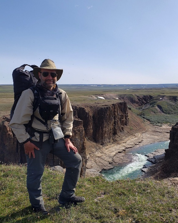 Joe McKenna hiking Tuktut in 2019. JOE MCKENNA