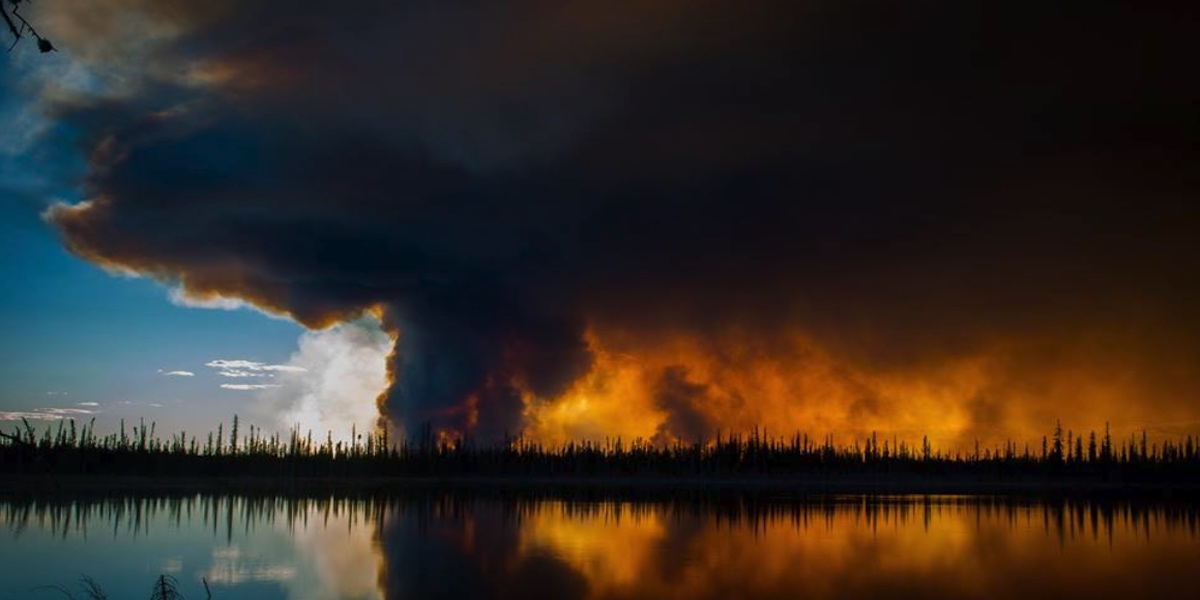 A wildfire burning in 2014. CREDIT KYLE THOMAS, VIA FACEBOOK